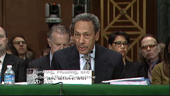 FHFA Director Mel Watt testifying before Congress