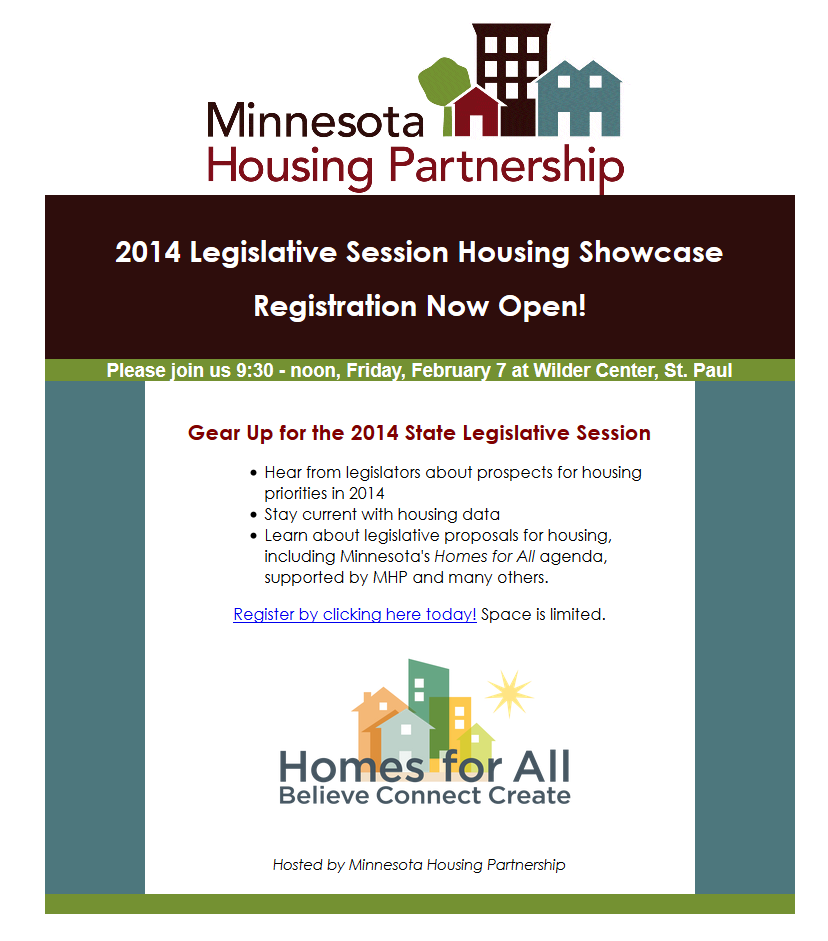 2014 Legislative Session Housing Showcase